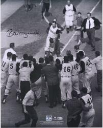 "Bill Mazeroski Pittsburgh Pirates Autographed 16"" x 20"" 1960 World Series Rounding 3rd Photograph"