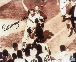 "Bill Mazeroski Pittsburgh Pirates Autographed 8"" x 10"" 1960 World Series Rounding 3rd Photograph"