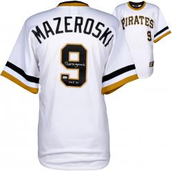 Bill Mazeroski Pittsburgh Pirates Autographed Majestic White Replica Jersey with HOF 2001 Inscription