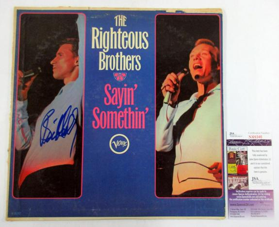 Bill Medley Signed Album The Righteous Brothers Sayin' Somethin' w/ JSA AUTO