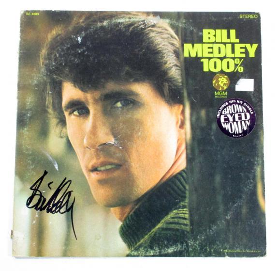 Bill Medley Signed LP Record Album 100% w/ AUTO