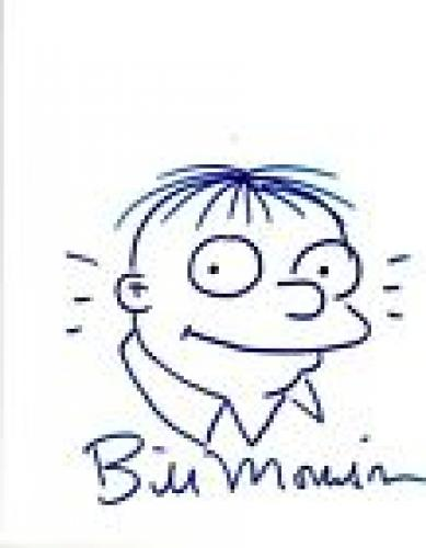 Bill Morrison Signed Autographed Hand Drawn Sketch The Simpsons COA VD