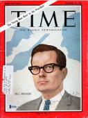 Bill Moyers Certified Authentic Autographed Signed Time Magazine Beckett BAS