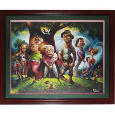 "Bill Murray Autographed Deluxe Framed ""Bushwood - A Tribute to Caddyshawk"" Deluxe Framed Limited Edition Print by David O'Keefe"