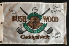 Bill Murray Chevy Chase Cindy Morgan Okeefe Signed Caddyshack Pin Flag Jsa Loa
