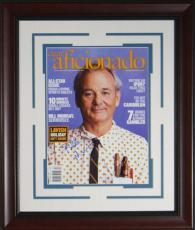 Bill Murray Signed Cigar Aficionado Framed Display
