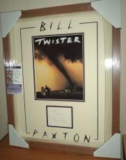 Bill Paxton Twister Movie Signed Autographed Double Matted & Framed Jsa Coa Rare