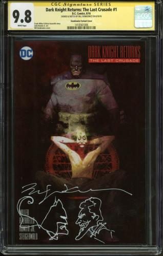 Bill Sienkiewicz Signed Dark Knight Returns w/ Batman & Joker Sketch CGC 9.8