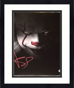"""BILL SKARSGARD SIGNED AUTOGRAPH """"IT"""" PENNYWISE 11x14 ACTION POSTER PHOTO BAS A"""