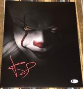 "BILL SKARSGARD SIGNED AUTOGRAPH ""IT"" PENNYWISE 11x14 ACTION POSTER PHOTO BAS A"