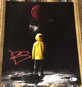 "BILL SKARSGARD SIGNED AUTOGRAPH ""IT"" PENNYWISE 11x14 ACTION POSTER PHOTO BAS B"