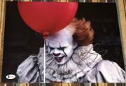 "BILL SKARSGARD SIGNED AUTOGRAPH ""IT"" PENNYWISE 11x14 ACTION POSTER PHOTO BAS C"