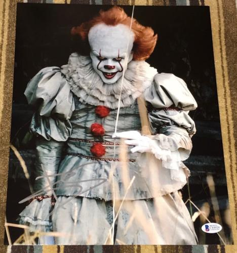 "BILL SKARSGARD SIGNED AUTOGRAPH ""IT"" PENNYWISE 11x14 ACTION POSTER PHOTO BAS D"