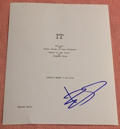 "Bill Skarsgard Signed Autograph Rare ""it"" Complete Movie Script With Coa Proof"