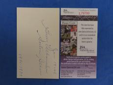 BILL URBANSKI SIGNED 3x5 INDEX CARD - JSA L79790 - BOSTON BRAVES - D. 1973