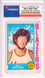 Bill Walton Portland Trailblazers 1974-75 Topps Rookie #39 Card