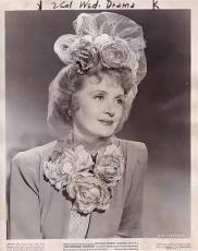 Billie Burke 1943 Type 1 Studio Press News Wire Photograph Photo Hi Diddle Diddl