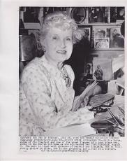 Billie Burke 1959 Type 1 AP Associated Press News Wire Photograph Photo