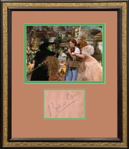 """Billie Burke Signed Display, """"The Good Witch"""", The Wizard of Oz"""