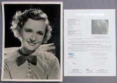 Billie Burke Wizard of Oz-GOOD WITCH Signed 1934 11x14 Photo by Bull JSA/LOA