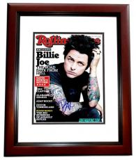 Billie Joe Armstrong Signed - Autographed GREEN DAY 11x14 inch Photo MAHOGANY CUSTOM FRAME - Guaranteed to pass PSA or JSA