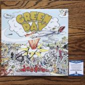 Billie Joe Armstrong Signed Green Day Dookie Album Cover W/ Vinyl Bas #d81634