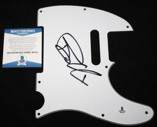 Billie Joe Armstrong signed pickguard, Green Day, Dookie, Nimrod, Beckett BAS
