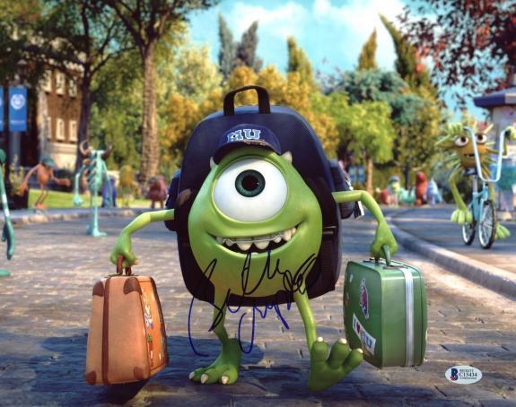 Billy Crystal Monster University Signed 11X14 Photo BAS #C15434