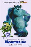 """Billy Crystal Monsters Inc. Autographed 12"""" x 18"""" Poster - BAS"""