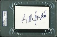 Billy Crystal Signed 4x6 Index Card Autographed Psa/dna Slabbed