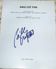 "Billy Crystal Signed Autograph ""analyze This"" Rare Full 138 Page Movie Script"