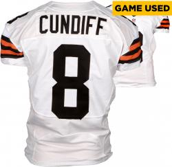 Billy Cundiff Cleveland Browns White Game-Used Jersey November 23, 2014 vs. Atlanta Falcons