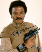 "Billy Dee Williams Star Wars Return of the Jedi Autographed 8"" x 10"" Lando Holding Gun Photograph - Topps Authentic"