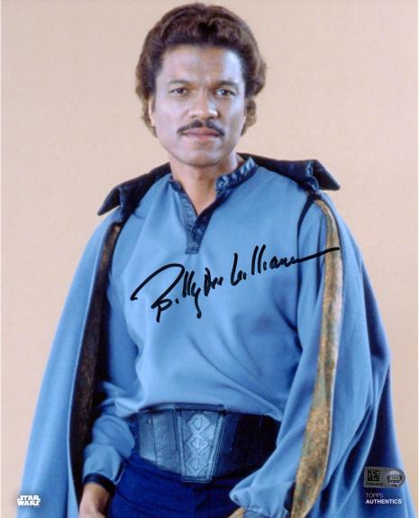 "Billy Dee Williams Star Wars The Empire Strikes Back Autographed 8"" x 10"" Lando Photograph - Topps Authentic"