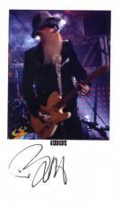 Billy Gibbons Autographed ZZ Top Signed 3x5 Cut UACC RD COA AFTAL
