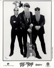BILLY GIBBONS HAND SIGNED 8x10 PHOTO         AWESOME POSE WITH ZZ TOP      JSA