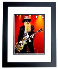 Billy Gibbons Signed - Autographed ZZ TOP Concert 11x14 inch Photo BLACK CUSTOM FRAME - Guaranteed to pass PSA or JSA