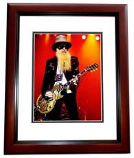 Billy Gibbons Signed - Autographed ZZ TOP Concert 11x14 inch Photo MAHOGANY CUSTOM FRAME - Guaranteed to pass PSA or JSA