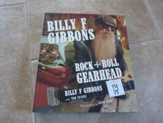 Billy Gibbons ZZ Top Gearhead Signed Autograph Book W Sketch Dated PSA Certified