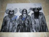 Billy Gibbons ZZ Top HUGE Band Signed Autographed x3 16x20 Photo PSA Certified