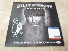 Billy Gibbons ZZ Top Perfectamundo Solo Signed Autographed LP PSA Certified