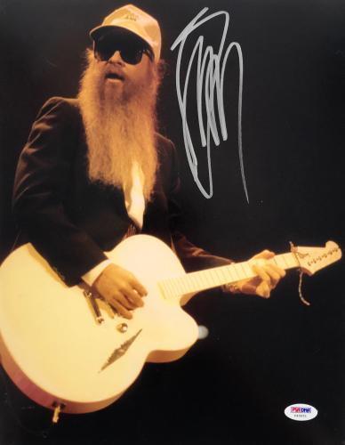 Billy Gibbons ZZ Top Signed Autographed 11x14 Concert Photo PSA/DNA COA Y48581