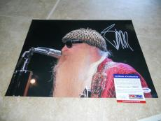 Billy Gibbons ZZ Top Signed Autographed 11x14 Live Color Photo #2 PSA Certified
