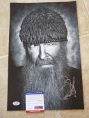 Billy Gibbons ZZ Top Signed Autographed 11x17 B&W Photo PSA Certified #1