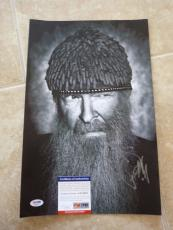 Billy Gibbons ZZ Top Signed Autographed 11x17 B&W Photo PSA Certified #3