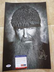 Billy Gibbons ZZ Top Signed Autographed 11x17 B&W Photo PSA Certified #4
