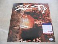 Billy Gibbons ZZ Top Signed Autographed Album Record Flat Poster PSA Certified 2