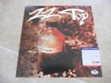 Billy Gibbons ZZ Top Signed Autographed Album Record Flat Poster PSA Certified 3