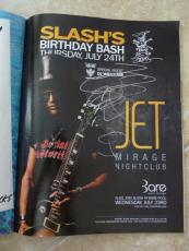 Billy Gibbons ZZ Tops Slash's Birthday 10x13 Magazine Page Photo PSA Guarantee