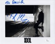 BILLY IDOL HAND SIGNED 8x10 PHOTO      ROCK AND ROLL LEGEND    TO DAVID      JSA